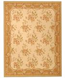 RugStudio presents Due Process Aubusson Belfort Ivory-Peach Flat-Woven Area Rug